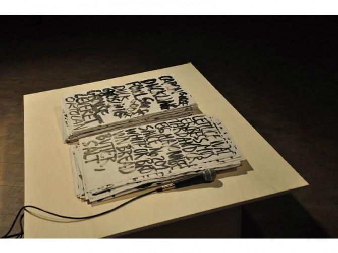 6. Performance /fu:d/, 2014. Detalle. Fundació Antoni Tàpies, Barcelona